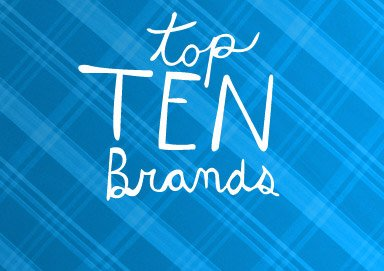 Shop Top Ten Brands Sale