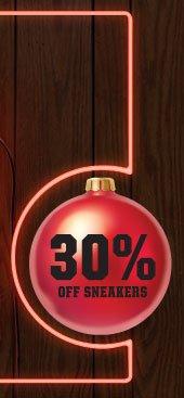 30% OFF SNEAKERS
