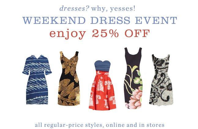 Find your dress today.