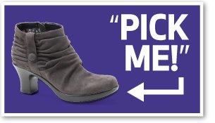 Pick Me! Buffy Grey Kid Suede