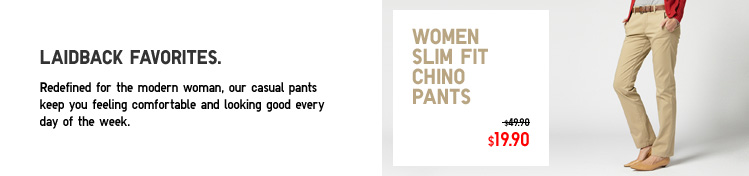 WOMEN SLIM FIT CHINO PANTS