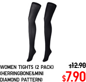 WOMEN TIGHTS (2 PACK) (HERRINGBONE&MINI DIAMOND PATTERN)