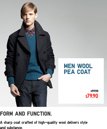 MEN WOOL PEA COAT