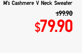 M's Cashmere V Neck Sweater