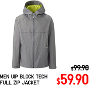 MEN UIP BLOCK TECH FULL ZIP JACKET