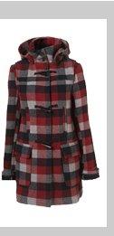 Check Bound Seam Duffle Coat