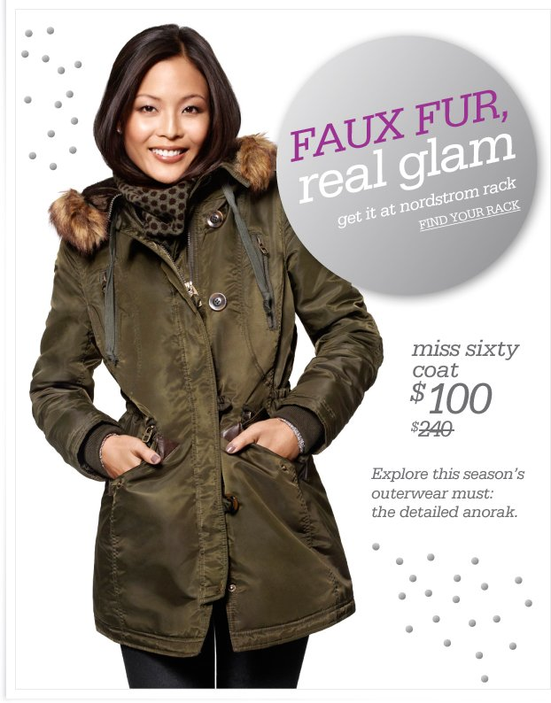 FAUX FUR, real glam - get it at nordstrom rack