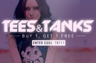 Tees & Tanks: Buy 1, Get 1 Free