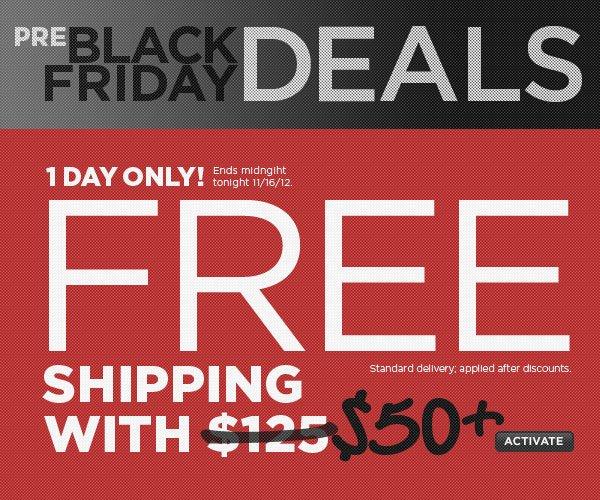 FREE Shipping w/$50