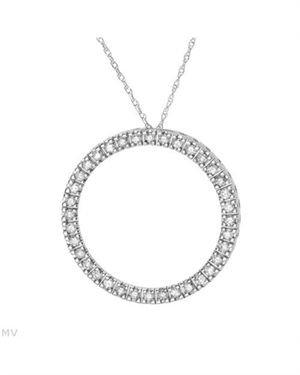 0.5 CTW Diamonds Ladies Necklace Designed In 14K White Gold $189