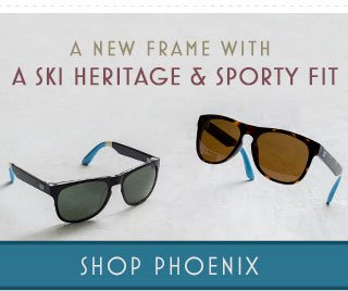 A new frame with a ski heritage and sporty fit - Shop Phoenix