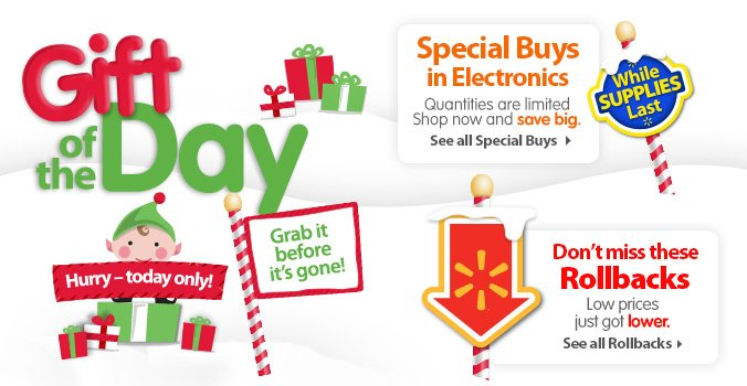 Gift of the Day, Special Buys & Rollbacks