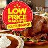 Thanksgiving Low Price Guarantee