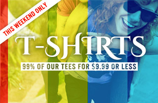 T-Shirts: $9.99 or Less