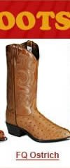 Full Quill Ostrich Skin Boots
