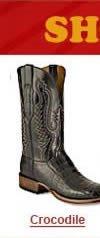 Crocodile Skin Boots