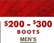 Mens Boots $200-$300