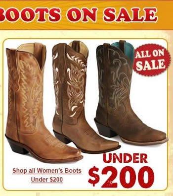 Boots under $200 Box