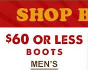 Mens Boots $60 and Under