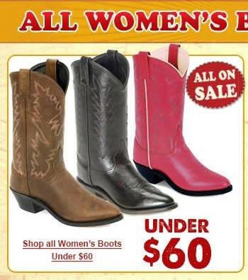 Boots under $60 Box