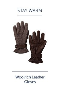 Woolrich Leather Gloves