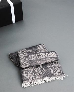 Just Cavalli Logo Wool Scarf - Made In Italy $65