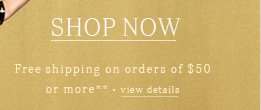 Free shipping on orders of $50 or more**