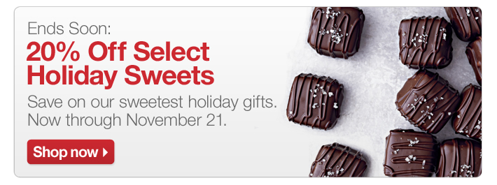 Ends Soon: 20% Off Select Holiday Sweets