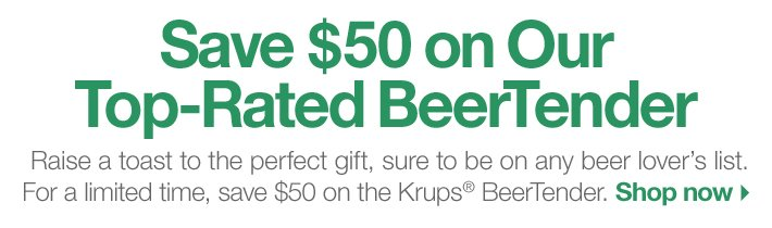 Save $50 on Our Top-Rated BeerTender