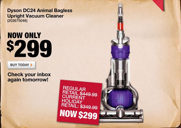 Dyson DC24 Animal Bagless Upright Vacuum Cleaner