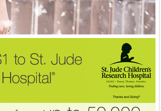 LIKE us on Facebook and we'll donate $1 to St. Jude Children's Research Hospital