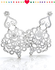 Amara Lace statement earrings