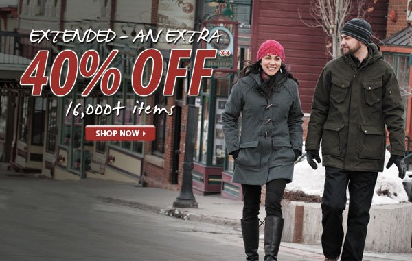 Extended - Top Secret Sale! An Extra 40% OFF over 16,000 Items!