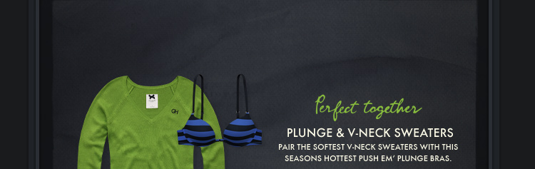 Perfect Together. Plunge & V–Neck Sweaters