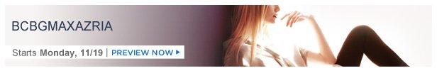 BCBGMAXAZRIA is on HauteLook Monday 11/19