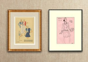 Framed Couture: Designer Sketches