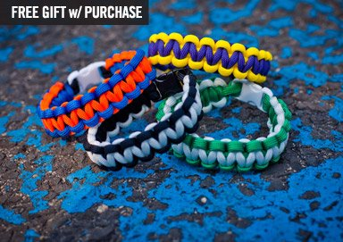 Shop Bracelets: Paracord, Leather & More
