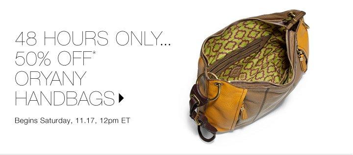50% Off* orYANY Handbags...Shop now