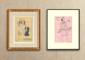 Framed Couture: Designer Sketches