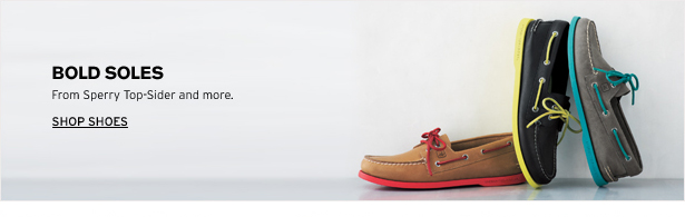 BOLD SOLES - From Sperry Top-Spider and more. SHOP SHOES