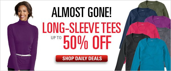Up to 50% off select long-sleeve tees
