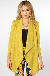 The Christie Soft Blazer in Chartreuse