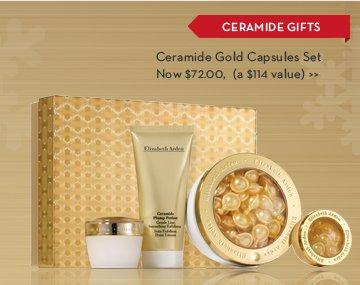 CERAMIDE GIFTS. Ceramide Gold Capsules Set. Now $72.00, (a $114 value).