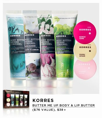 new . limited edition. Korres Butter Me Up Body & Lip Butter Collection ($76 Value), $38