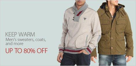 Keep Warm ( Men's Sweaters, Coats, & More)