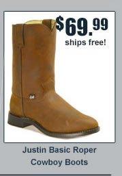 Justin Basic Roper Cowboy Boot