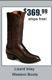 Lucchese Diego Lizard Inlay Western Boots