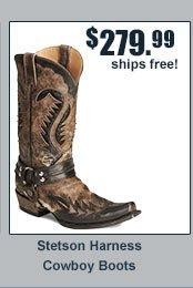 Stetson Harness Cowboy boots