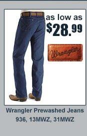 28.99 Wrangler prewashed