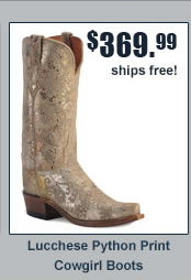 Lucchese Python Print Cowgirl Boots